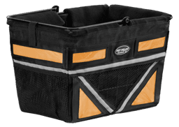 Pet-Pilot Bike Basket Angled Orange