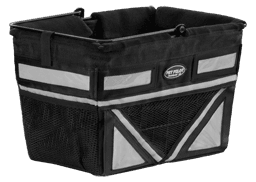 Pet-Pilot Bike Basket Angled Silver